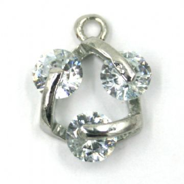 11mm x 15mm Treble spinning crystal charm
